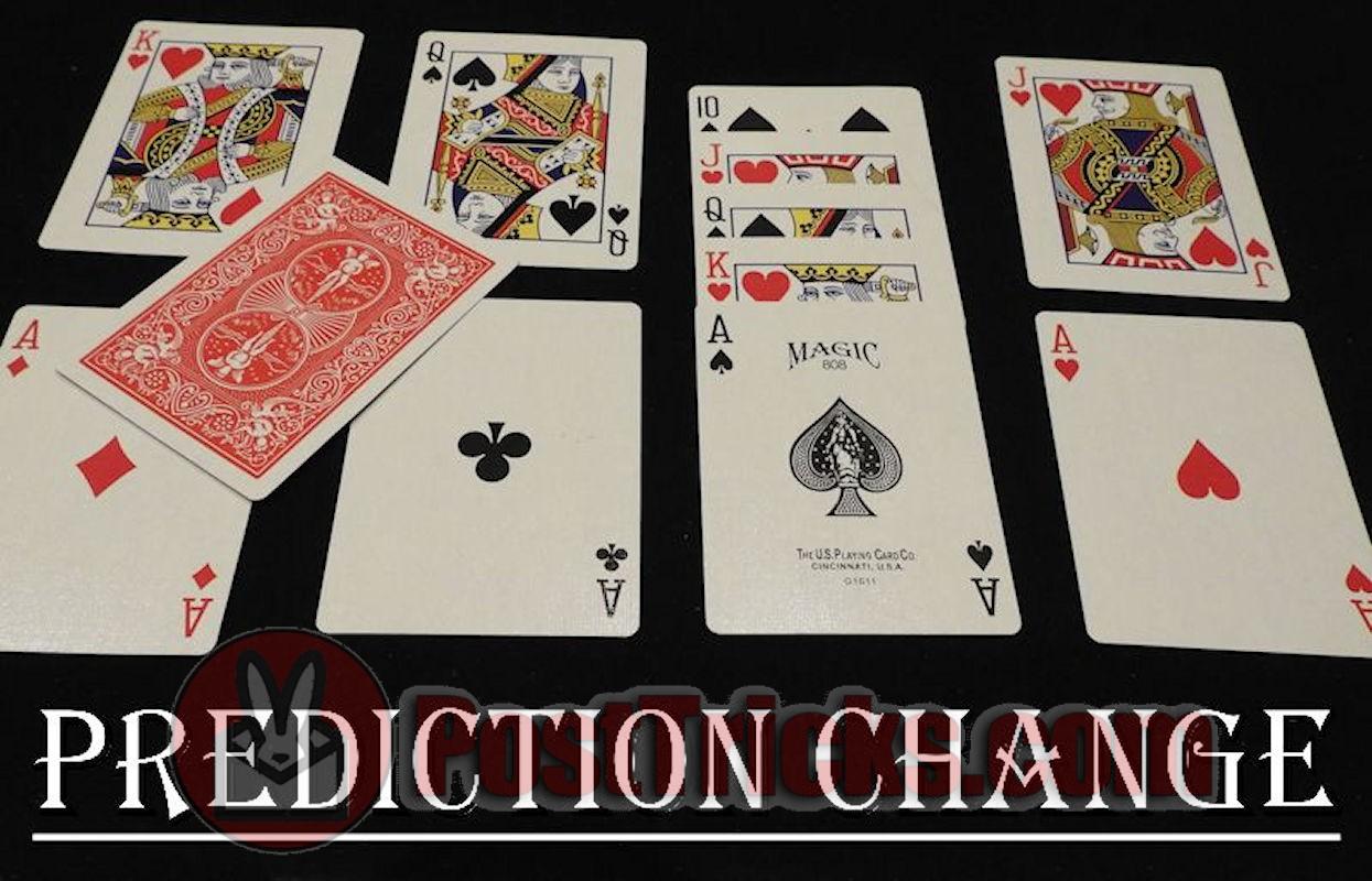 prediction card change magic trick  post tricks