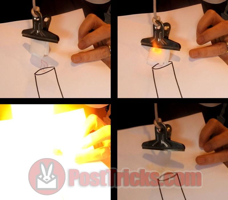 FLASH PAPER CLIP /& SPECIAL INK PEN CARTOON FIRE BURN MAGIC TRICK FRIXION IGNITER