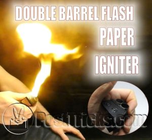 Double Barrel Flash Paper Igniter Magic Trick
